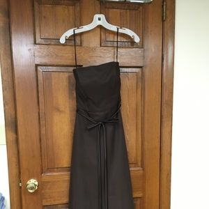 Excellent quality brown prom or formal dress